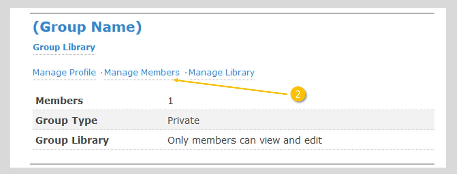 "Image showing link to ""manage group members"""