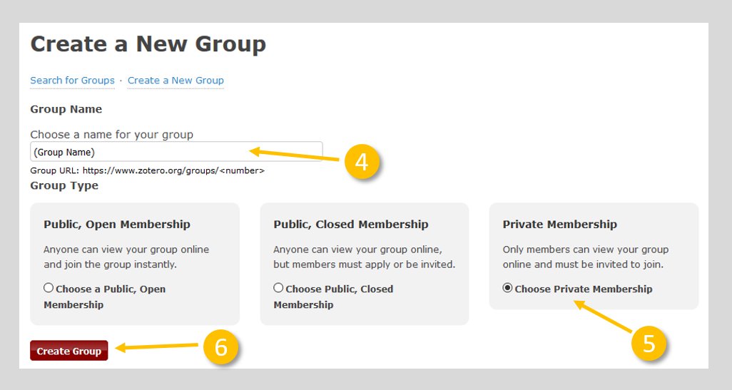 Image of group settings page with name and membership permissions